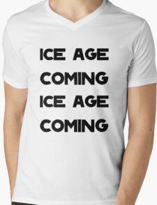Ice Age Coming -Black Mens V-Neck T-Shirt