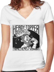 Heady Topper Women's Fitted V-Neck T-Shirt