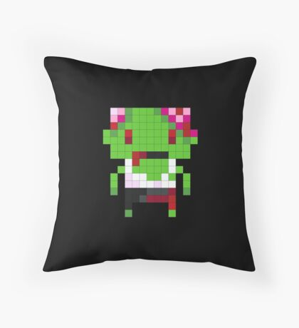 Pixel Art Zombie Throw Pillow