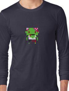 Pixel Art Zombie Long Sleeve T-Shirt