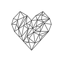 Geometric Heart Photographic Print