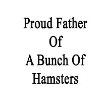 Proud Father Of A Bunch Of Hamsters  Photographic Print