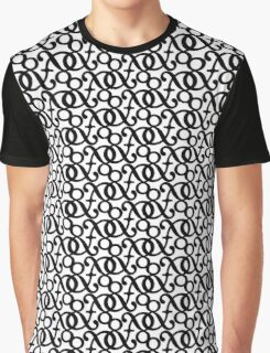 &mpersand: Black Graphic T-Shirt