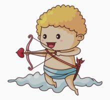 Cartoon Cupid Clouds One Piece - Long Sleeve