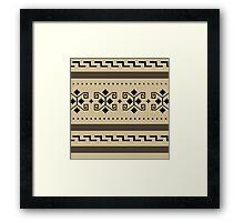 Big Lebowski Cardigan Texture Framed Print