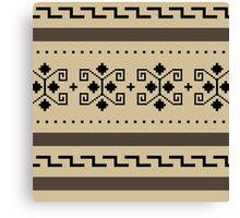 Big Lebowski Cardigan Texture Canvas Print