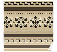 Big Lebowski Cardigan Texture Poster