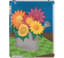 Colorful Flowers in Watering Can iPad Case/Skin