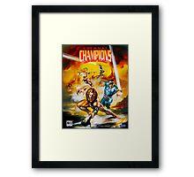 Eternal Champions repro poster Framed Print