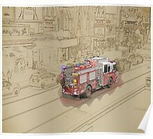 NYC Fire Engine Poster