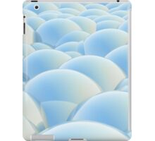 blue 3D Spheres crossover iPad Case/Skin
