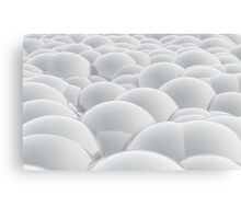 white 3D Spheres crossover Canvas Print