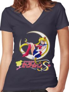 Sailor Moon Women's Fitted V-Neck T-Shirt