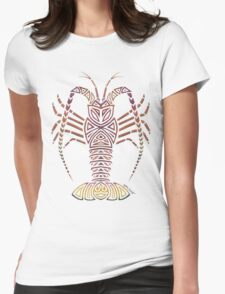 Tribal Caribbean Lobster Womens Fitted T-Shirt