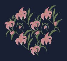 Lily floral pattern Kids Tee