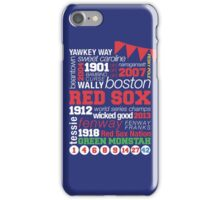 Boston Red Sox Typography iPhone Case/Skin
