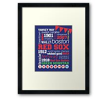 Boston Red Sox Typography Framed Print