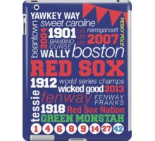 Boston Red Sox Typography iPad Case/Skin