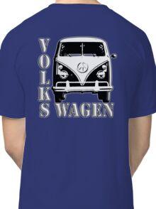 CAMPER, Volkswagen, Van, VW, Split screen, 1966, Volkswagen, Kombi, North America, on Blue Classic T-Shirt