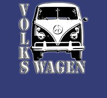 CAMPER, Volkswagen, Van, VW, Split screen, 1966, Volkswagen, Kombi, North America, on Blue Unisex T-Shirt