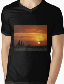 Sunset Sail in Key West III Mens V-Neck T-Shirt