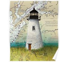 Pooles Island Lighthouse MD Nautical Chart Map Cathy Peek Poster