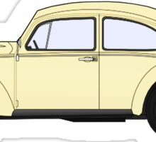 VW, Volkswagen, Beetle, Bug, Motor, Car, Cream Sticker