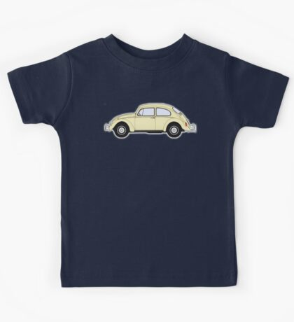 VW, Volkswagen, Beetle, Bug, Motor, Car, Cream Kids Tee