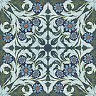 Mosaic flowers pattern by Maria Khersonets