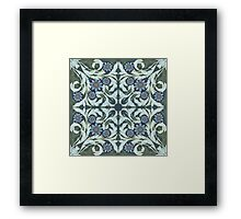 Mosaic flowers pattern Framed Print