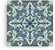 Mosaic flowers pattern Canvas Print