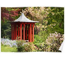 Gazebo in the Garden Poster