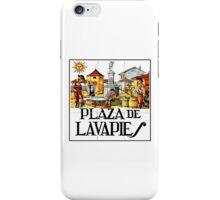 Plaza de Lavapies, Madrid Street Sign, Spain iPhone Case/Skin