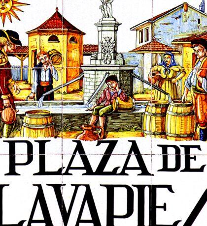 Plaza de Lavapies, Madrid Street Sign, Spain Sticker