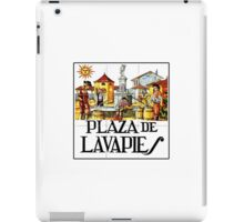 Plaza de Lavapies, Madrid Street Sign, Spain iPad Case/Skin
