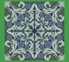 Mosaic flowers pattern One Piece - Short Sleeve