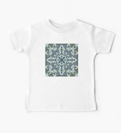 Mosaic flowers pattern Baby Tee