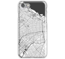 Buenos Aires City Map Gray iPhone Case/Skin