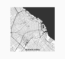 Buenos Aires City Map Gray Unisex T-Shirt