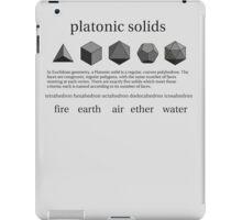 Platonic Solids iPad Case/Skin