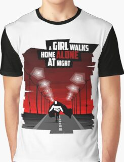 A Girl Walks Home Alone At Night Graphic T-Shirt