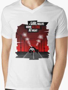 A Girl Walks Home Alone At Night Mens V-Neck T-Shirt