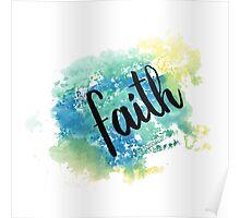 Faith hand lettering acuarela Poster