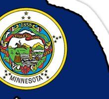 Minnesota flag cat Sticker