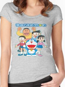 Doraemon Women's Fitted Scoop T-Shirt