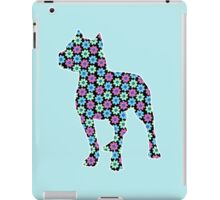 Pitbull Terrier, Spring Floral Pattern iPad Case/Skin