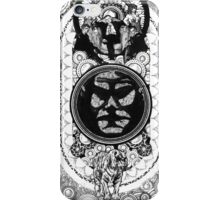 suits and a face in a losenge above a tiger iPhone Case/Skin