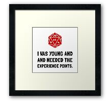 Experience Points Framed Print