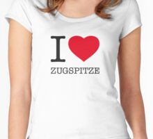 I ♥ ZUGSPITZE Women's Fitted Scoop T-Shirt