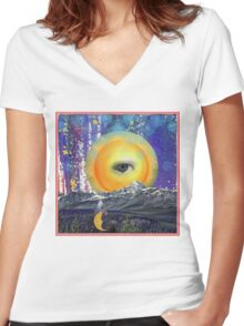 Moon Song Women's Fitted V-Neck T-Shirt